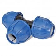 vidaXL PE hadicová spojka T-kus, 16 bar / 25 mm, 4 ks