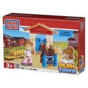 Mega Bloks - 361 - Poney Et Écurie - Parc - Jeu De Construction