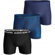 Björn Borg Essential Shorts 3er-Pack Blau Schwarz - Dunkelblau XXL