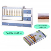 Set patut + salteluta Nia White-Blue