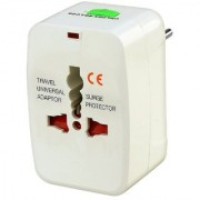 All In One Universal World Wide Travel Plug Adapter White