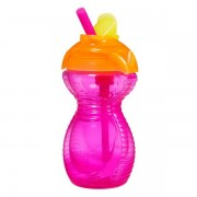 Munchkin Click Lock Flip Straw Cup 296ml - Rosa