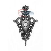 Ornamentos Florões em ferro fundido escudo