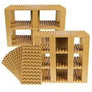 Premium Big Briks Gold Baseplate Tower Construction Set - 96 Pack Bundle (Big LEGO DUPLO Compatible) - Large Pegs