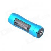 """FS-4 USB impermeable recargable 1.0"""" LCD nadador reproductor de mp3 w / FM - azul (8 GB)"""