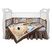 Комплект в кроватку для новорожденных shapito by giovanni Leo