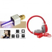 MIRZA Q7 MIC And Bluetooth Speaker And Bluetooth Headphone (_JBL 881C Bluetooth Headphone) for HTC DESIRE 530