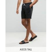 ASOS Черные шорты для плавания средней длины ASOS TALL - Черный