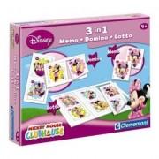 Coffret Jeux 3 En 1 : Minnie : Memo, Domino, Loto