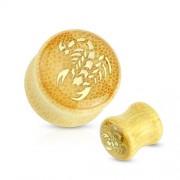 10 mm Double-flared plug Bamboe scorpion