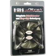 Ventilator Inter-Tech CobaNitrox Extended N-120-G 120mm Grey LED