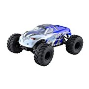 XciteRC 30309000/M1: 10 Radio Control RC Car Monster Truck One 10 4WD RTR model car, blue
