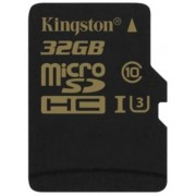 Card de memorie Kingston SDCG/32GBSP, microSDHC, 32 GB, Clasa 10, Viteza citire 90 MB/s, Viteza scriere 45 MB/s