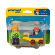 Playmobil Mother with Baby and Stroller, Multi Color