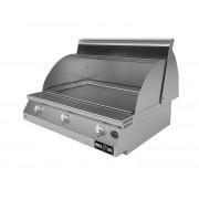 Barbecue professionali Barbecue a gas Fry Top 750 Teppan da appoggio 3 bruciatori