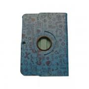 Funda Giratoria Samsung Galaxy Tab 3 10 pulgadas azul decorada