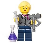 LEGO Ideas CUUSOO - Female Scientist Minifigure with Sextant Syringe and Purple Bottle (21110)