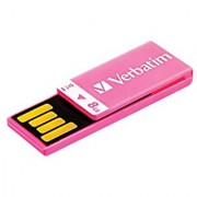 Verbatim 8GB Clip-it USB Flash Drive Pink 43935