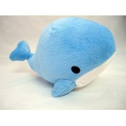 Blue White Whale Soft Plush With Suction Cup Cute Stuffed Toy