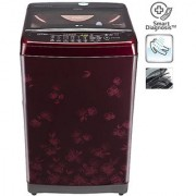 LG T8077TEELX 7.O KG Top Load Fully Automatic Washing Machine - NEW RED FLORID / WINE BLACK (Available in Delhi NCR Only )