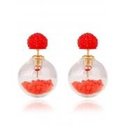 rosegal Pair of Resin Small Ball Pendant Stud Earrings