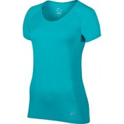 NIKE Dri-FIT Short Knit oberbekleidung manches longues, Femme, Oberbekleidung Dri Fit Knit Shortsleeve, Turquoise