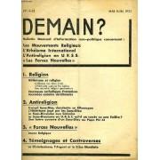 Demain ?, N° 14-15, Mai-Juin 1933