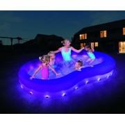 Színhullám LED-világítású családi medence 280 x 157 x 46 cm SME 065