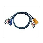 ATEN 2L-5302U :: KVM кабел, HD15 M + USB type A M + 2 Audio Plugs >> SHDB15 M + 2 Audio Plugs, 1.8 м