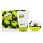 Be Delicious Coffret: Eau De Parfum Spray 50ml/1.7oz + Body Lotion 100ml/3.4oz 5AF2 2pcs Be Delicious Комплект: Парфțм Спрей 50мл + Лосион за Тяло 100мл 5AF2