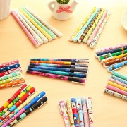 6 pcs/set Cute Gel Pens 0.38mm Colored Ink Roller Pen Kawaii Ballpoint School Canetas Boligrafos Gift Stationery Office Supply