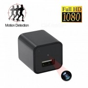 1080P HD USB cargador de pared Mini camara con 8 GB de memoria interna