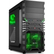 Sharkoon VG4-W Midi Tower PC Gaming Case Green
