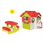 Set căsuţă My House Smoby şi măsuţă Picnic 810402-5