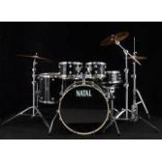 Natal Spirit US Fusion Drumset, Black Wrap