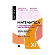 Matematica clasa a XI-a. Breviar teoretic cu exercitii si probleme rezolvate.