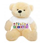 Peach 2 feet Big Teddy Bear wearing a FRIENDS T-shirt