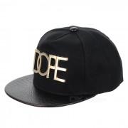 Punk Lona Estilo Hip-Hop Calle Cap Hat - Negro