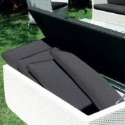 Coffre de rangement étanche, armature aluminium, résine tressée traitée anti-UV