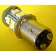 Bec auto 1157 / B15S LED alb (stop pozitie+frana)