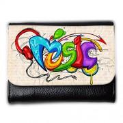 Cartera unisex // V00002278 sfondo stile graffiti Musica // Medium Size Wallet