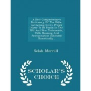 A New Comprehensive Dictionary of the Bible by Selah Merrill