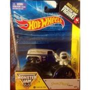 Hot Wheels Monster Jam Off Road Scale 1:64 ((Grave Digger the Legend #27)) Includes ((Track Ace Tires & Monster Jam Figu