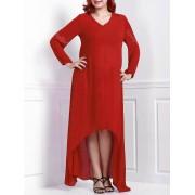 rosegal Plus Size Maxi Long Sleeve Casual Dress