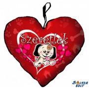 Szívpárna, kicsi kutya, szeretlek