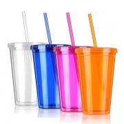 Plastic Cup met Rietje