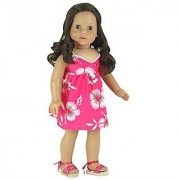 Fits American Girl Doll 18 Inch Doll Clothing/Clothes of Hawaiian Print Baby Doll Dress