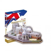 Westminster Abbey 3D Puzzle. London England Beautiful Elegant Decoration for Home/Office