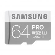 Card Samsung microSDXC PRO 64GB Clasa 10 UHS-I U3 cu adaptor SD