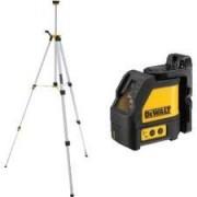 DeWALT DW088K - Nivelador láser (25 h, Alcalino, 6 V, 80 mm, 135 mm, 145 mm) Negro, Gris, Naranja